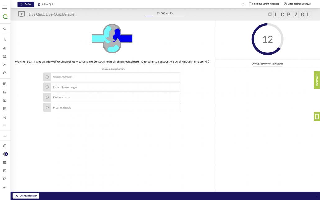Branding im Live-Quiz Webclient